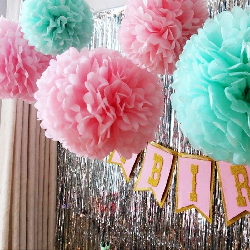 1 шт., бумажные помпоны для украшения свадебной комнаты