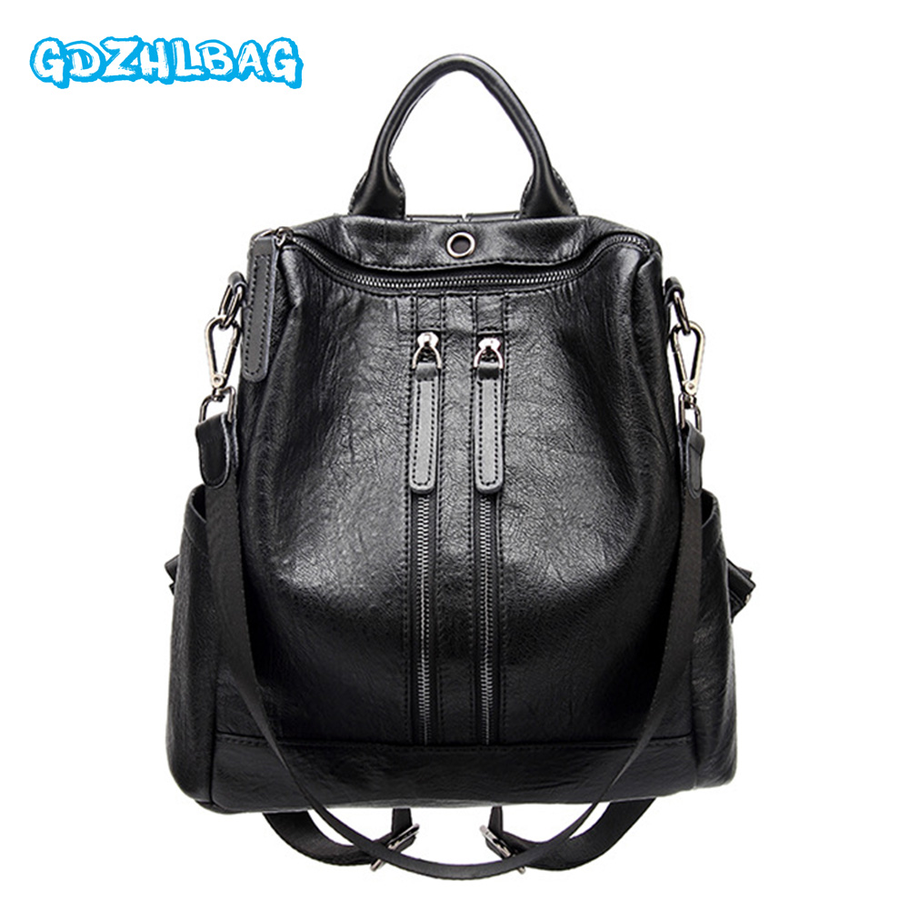 New Women Backpacks Leather Female Travel Shoulder Bag Backpack High Quality Women Bag College Wind School Bag Girl Mochila B225 new 2016 women backpack genuine leather fashion bag backpack women leisure college wind cowhide backpack girl school
