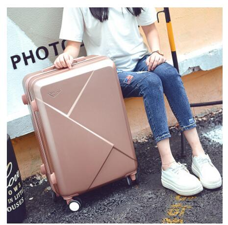 ABS+ PC Brand Women 20 24 26 Inch Cabin Travel Trolley suitcase Travel trolley bags Rolling Case On Wheels  Luggage Suitcase