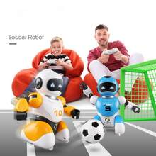 2pcs Soccer Robot Smart Remote Control Singing And Dancing USB Charging Simulation RC Intelligent Football Robots Toys(China)