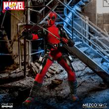 Mezco Maravilha Deadpool X-men Super Hero Uno: 12 Collettiva Bjd Figura Giocattoli 16 Cm(China)