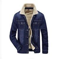 Повседневная мужская куртка и пальто трендовая Теплая Флисовая джинсовая куртка 2019 Весенняя Мужская джинсовая куртка верхняя одежда мужск
