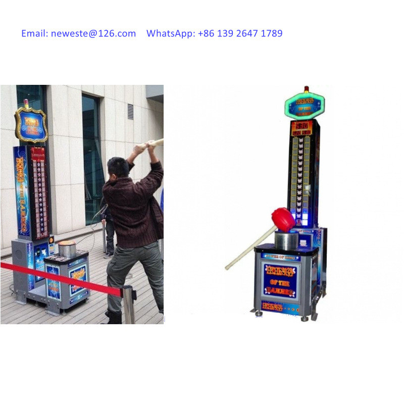 Amusement Equipment Hercules Simulator Games Ticket Redemption Coin Operated Arcade Carnival Hammer Hit Game Machine