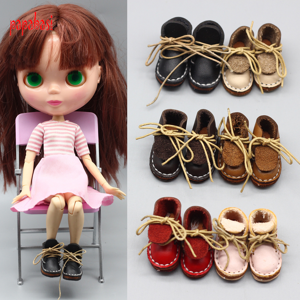3.5cm Doll Accessories shoes for blyth doll 1/6 30cm gift toy bjd Lace dolls shoes uncle 1 3 1 4 1 6 doll accessories for bjd sd bjd eyelashes for doll 1 pair tx 03