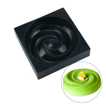 Roses Round Spiral Shaped Silicone Cake Mold Mousse Pan  Non-stick Decorating Moulds Baking