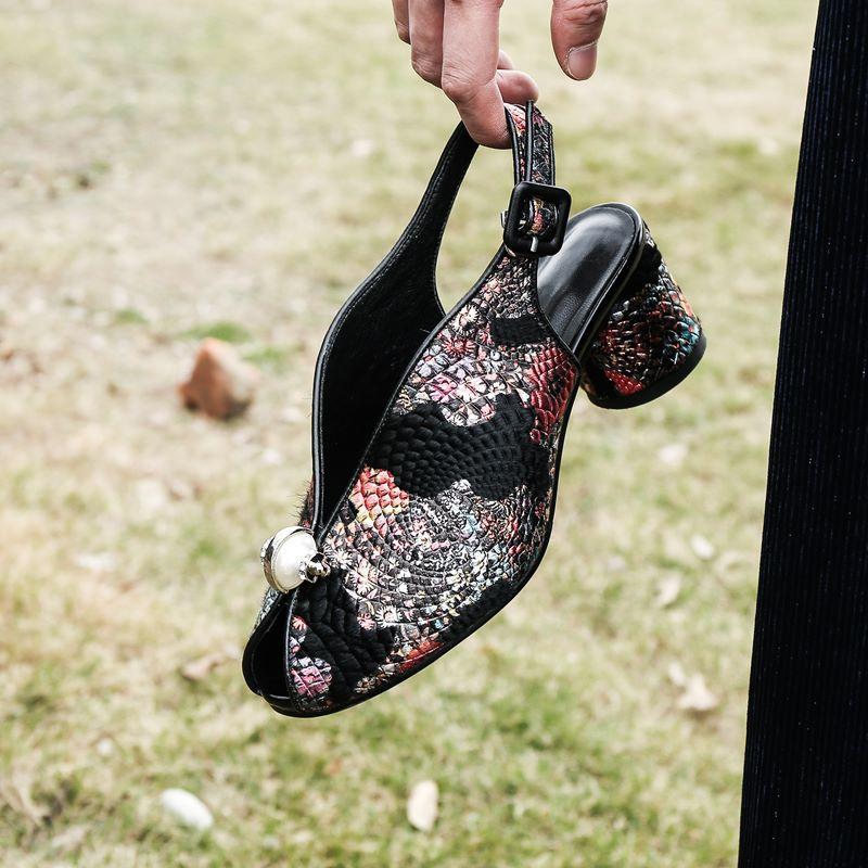 Azul Tacón Redonda Mujeres Zapatos rojo Nueva Sandalias Mujer De Verano Punta Llegada Moda Alto Crin 2019 Asumer vHxqn4wZn