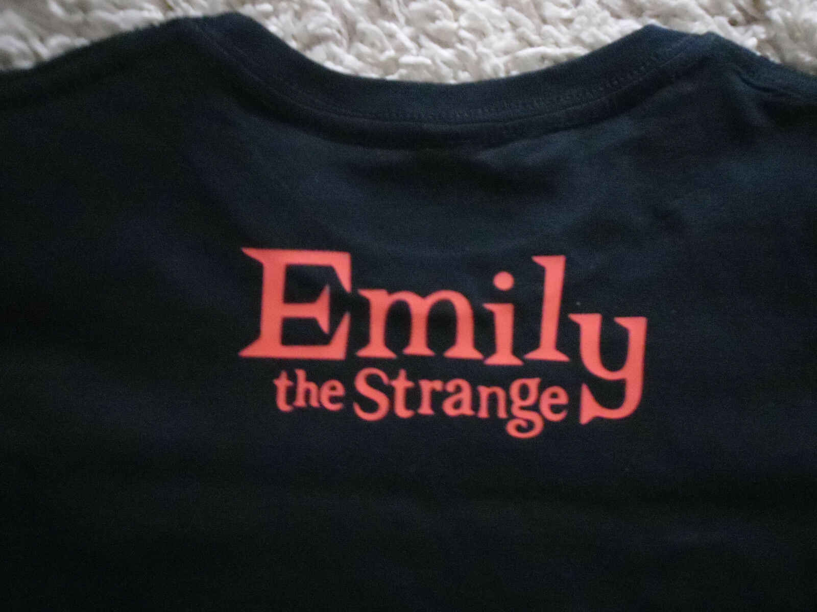 EMILY THE STRANGE BAD KITTY DOUBLE SIDED LADIES FITTED T-SHIRT