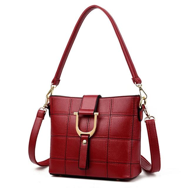 Mme sac à bandoulière en cuir de platine sac à main haut de gamme simple fleur sac diagonal , red