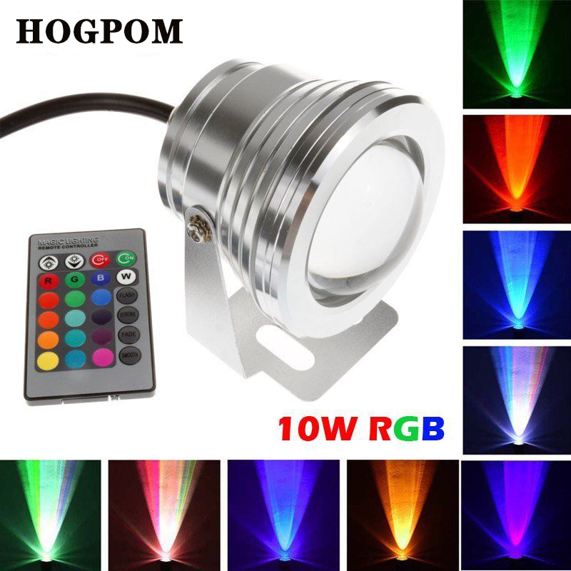 Lights & Lighting Led Lamps 10w 12v Rgb Underwater Fountain Pool Lamp Led Light 16 Color Change With 24key Remote Controller Waterproof Ip68 Free Shipping Fast Color