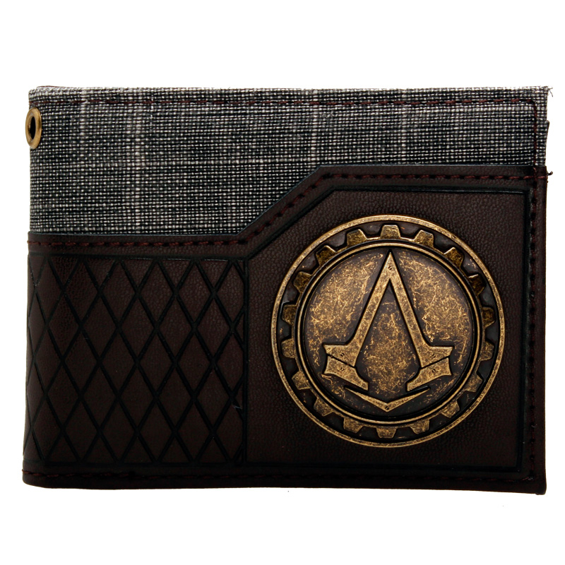 Assassins Creed Logo brown/black  Bi-Fold Wallet DFT-1575 перчатки overmoon by acoola overmoon by acoola ov004dgxau18