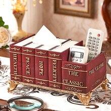 Multi-function tissue box luxury retro living room home remote control tray restaurant desktop storage