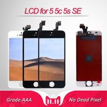Качество AAA для iPhone 5 5C SE ЖК-экран для iPhone 5S дисплей дигитайзер сенсорный экран модуль черный/белый Заводская проверка