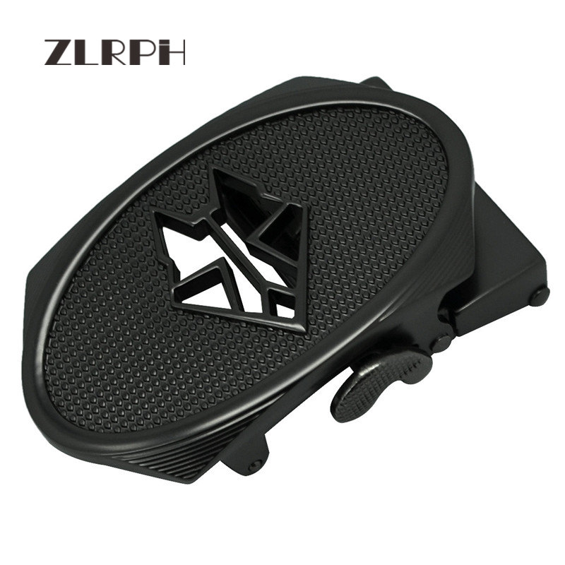 ZLRPH High Quality Belt Buckle Personality Hollow Wolf Head Design Automatic Buckle Skin Lead Fashion Hundred Lap