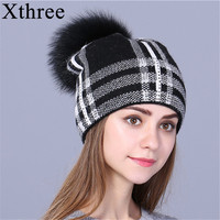 Xthree Women Autumn Winter Hat For Girl Knitted Beanies Hat 2017 New Fashion Female Skullie Girl