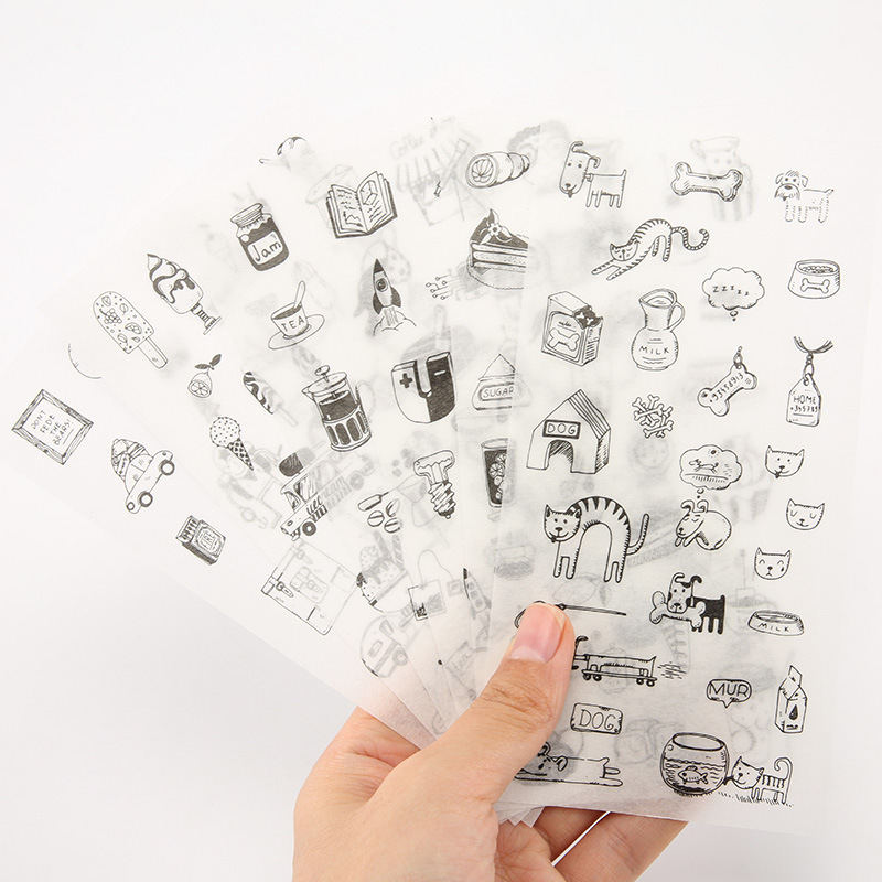 6 PCS New Cute Small Town Story Diary Decorative Planner Stickers DIY Diary Scrapbooking Phone Index Seal Stickers