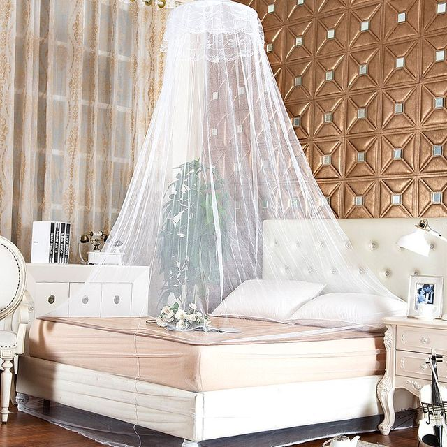 Elegant Lace Mesh Canopy Princess Round Dome Bedding Net Bed Hung Dome Mosquito Netting Hot