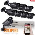 ZOSI P2P Inicio de Seguridad CCTV Sistema de Video DVR 1200TVL 8CH 720 P AHD 1.0MP IR Noche Visión Cámara de Vigilancia Impermeable Kits