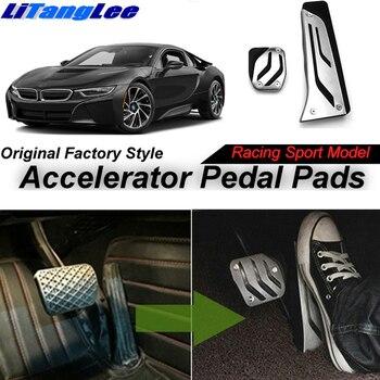 Cubierta de almohadilla de Pedal acelerador de coche LitangLee diseño de carreras deportivas para BMW i8 2014 ~ 2018 cubierta de almohadilla de Pedal de acelerador