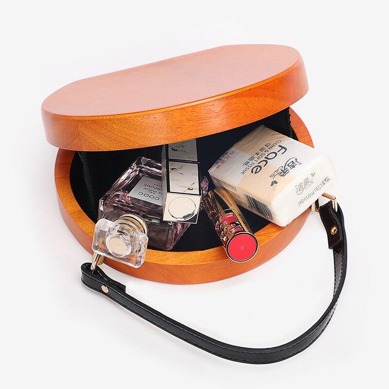 Деревянная круглая сумка, женские сумки на цепочке, сумки через плечо, женские вечерние сумки клатчи для вечеринок, дизайнерская сумка через плечо - 6