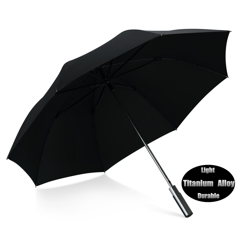 Big Large Brand Titanium Alloy Long Straight Handle Rainy Sunny Umbrella Men Windproof Quality Car Golf Beach Business Paraguas