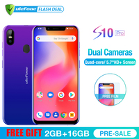 Ulefone S10 Pro Mobile Phone Android 8.1 5.7 inch MT6739WA Quad Core 2GB RAM 16GB ROM 16MP+5MP Rear Dual Camera 4G Smartphone