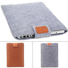 Pure Color Felt Cover Case 11 12 13 15 Inch Protective Laptop Bag for Macbook Air Pro Retina Laptop Case Cover