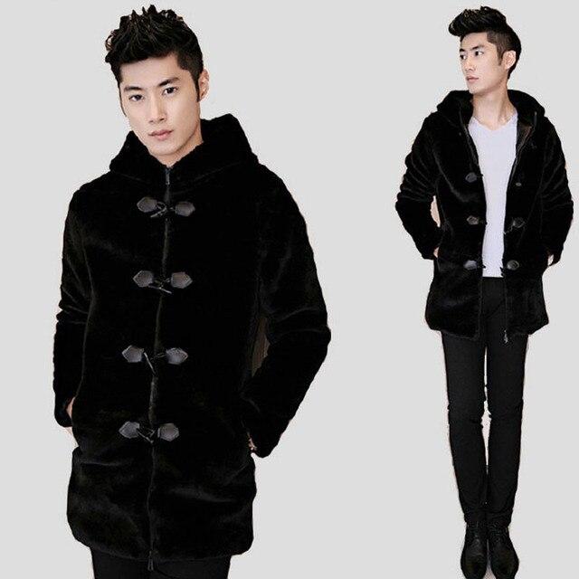 Aliexpress.com : Buy 2016 Mens Casual Warm Faux Mink Fur Jacket ...