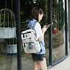 2018 USB Charging Canvas Backpack 3 Pcs/set Women School Backpacks Schoolbag For Teenagers Man Student Book Bag Boys Satchel 5