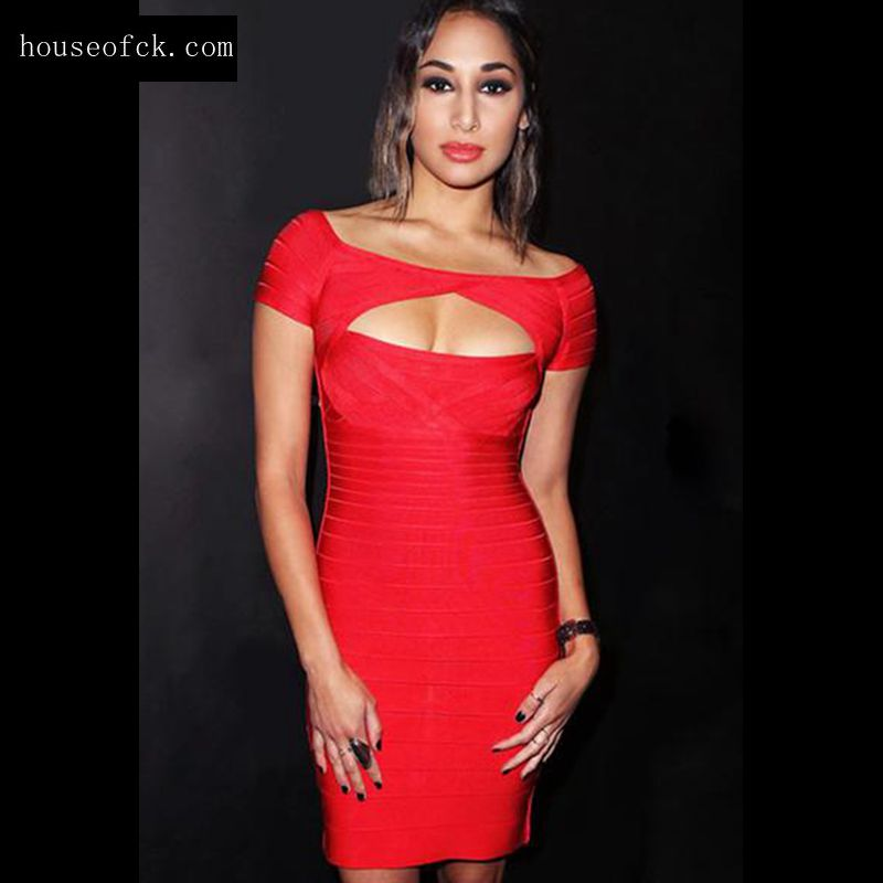 2015 Bodycon Bandage Dresses Top quality winter women nude