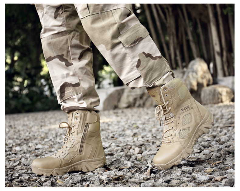 Brand Men\'s Boots Big Size Military boot Chukka Ankle Bot Tactical Army Male Shoes Safety Combat Mens Motocycle Boots (10)