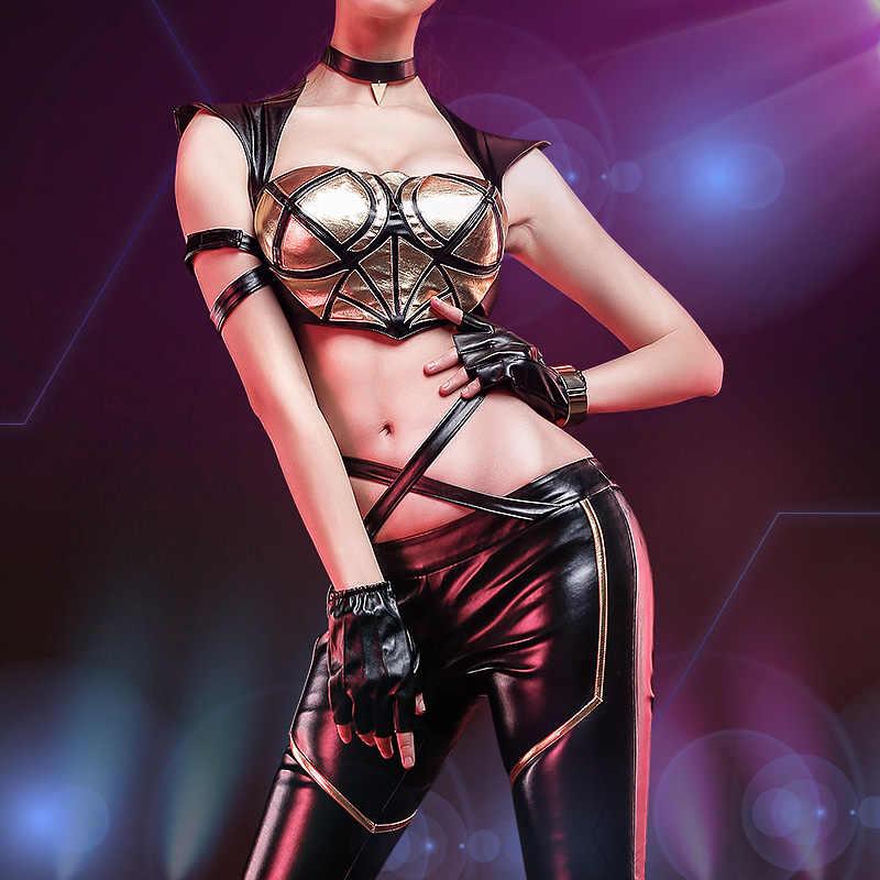 [Предпродажа] Аниме! Горячая игры LOL k/da кДа девочек группы Evelynn Ahri Akali Кайса боевой костюм сексуальная униформа Косплэй костюм для Для женщин
