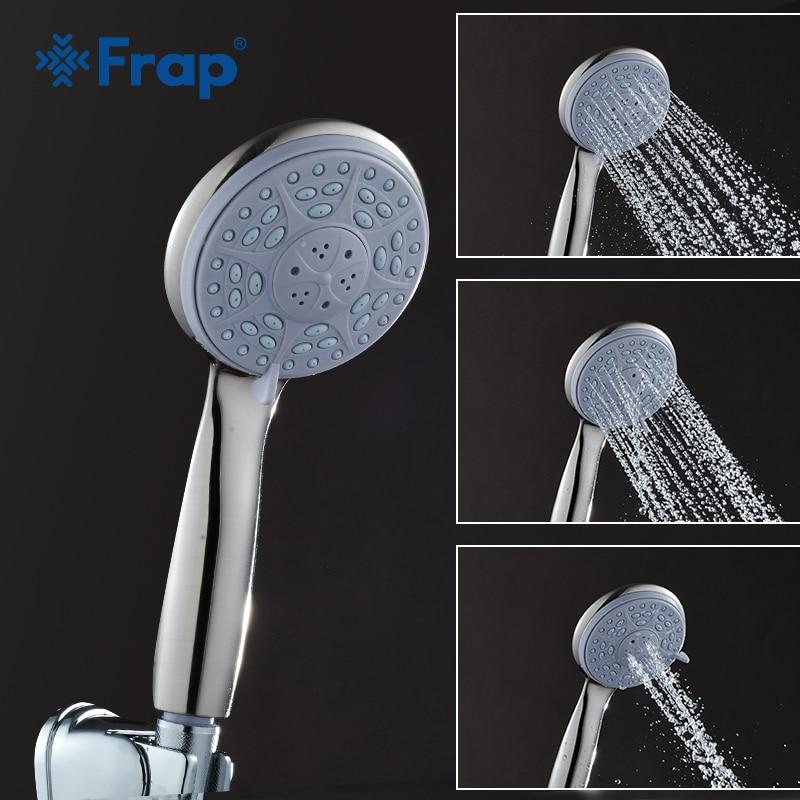 Frap Third Gear Adjustment Round Hand Shower Nickle Brushed Rain Spray Bathroom Accessories F16-5