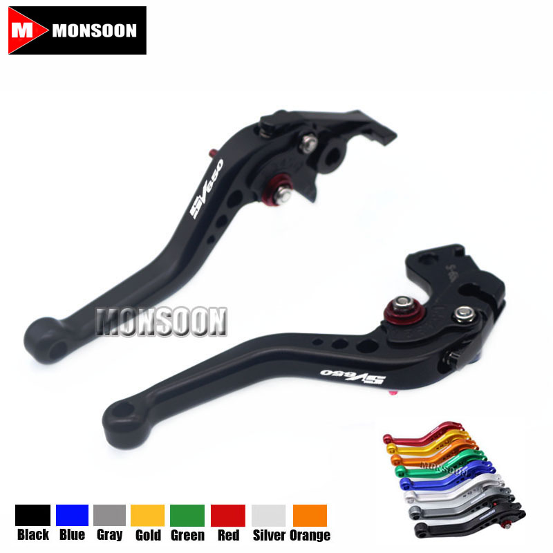 For SUZUKI SV 650 SV 650S SV650 SV650S KATANA 1999-2009 Motorcycle Accessories Aluminum short Brake Clutch Levers Black комбо для гитары boss katana mini