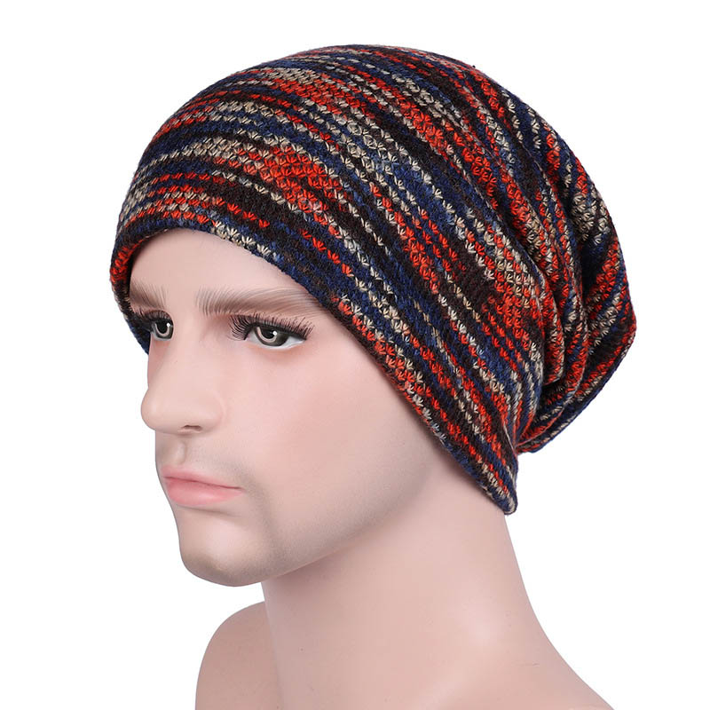 2019 New Coloful Men Hat Fashion Women Knitted Caps Autumn Outdoor Warm Winter Cap Man Velvet Beanies Polyester Cotton Fabric