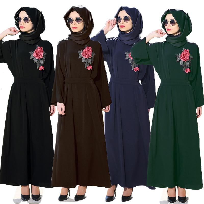 Мусульманское платье шифон Исламская одежда Абая для женщин