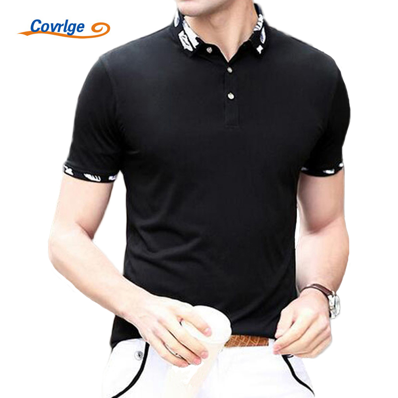Covrlge 2017 Mens   Polo   Shirt Brands Summer Fashion   Polo   Tops Luxury Men Solid Short Sleeve Tee Shirts Brand Casual   Polos   MTP018