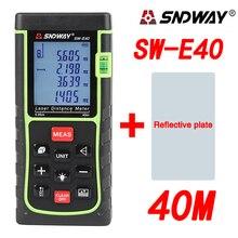 Sale SNDWAY SW-E40 RZ40 Laser Rangefinder 40m Laser Distance Meter Digital laser Range Finder Roulette Tape Measure Area/Volume Tool