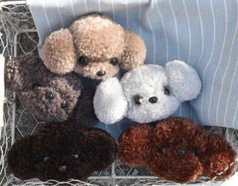 Cute dog Pompom felt kit with keychain animail woolen thread set wool needlepoint felt needle felting keyring craft DIY handmade