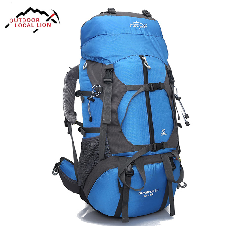 65L Large Capacity Backpack High quality Nylon Waterproof Travel bag Durable Multifunctional Rucksack For Outdoor Hiking Camping safrotto high quality photographic outdoor travel waterproof large trolley case bag casual shockproof photo backpack