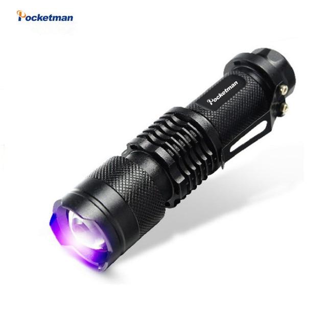 2018 NEW Pocketman LED UV Flashlight SK68 Purple Violet Light UV 395nm torch Lamp free shipping