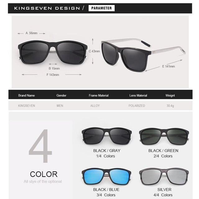KINGSEVEN Nova Marca de Moda Designer de Alumínio óculos de Sol TR90 ... 4ff9d3bea8