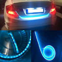 Car Styling Dynamic Streamer Trunk Strip Flow Led Lights Universal For Car Trunk Tailgate Reverse Brake