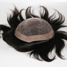 Men Toupee Human-Hair-Patch Wigs Hair-Replacement-System Fine-Monofilament Eversilky