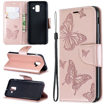 Leather Flip Case For Samsung A6 Plus 2018 Mobile Phone A7 A750 Prime Funda Wallet Cover Coque