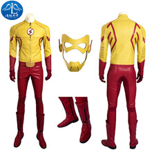 ManLuYunXiao 2017 Cosplay Costume Flash Kid Roleplay The Flash Men's Jacket Mask Cosplay Full Suit Custom Made Free Shipping