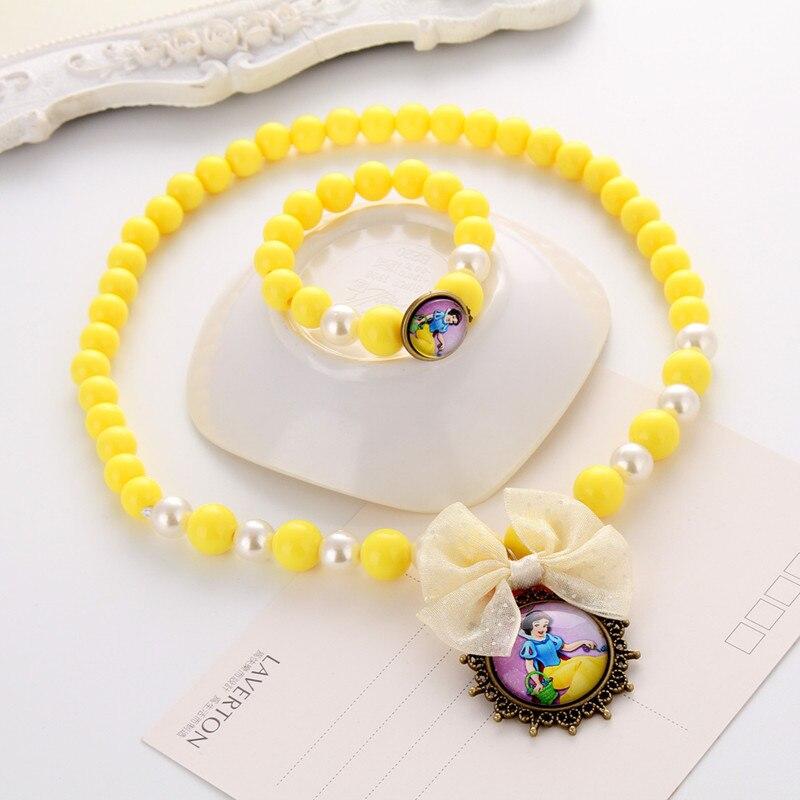 Terbaru Putri Beads Kalung Gelang Perhiasan Set Hadiah Natal untuk - Perhiasan fashion - Foto 5