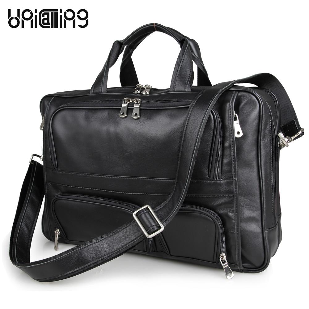 Laptop leather bag handbag genuine leather large capacity brand high-grade quality cow leather 17 inch laptop bag business bag