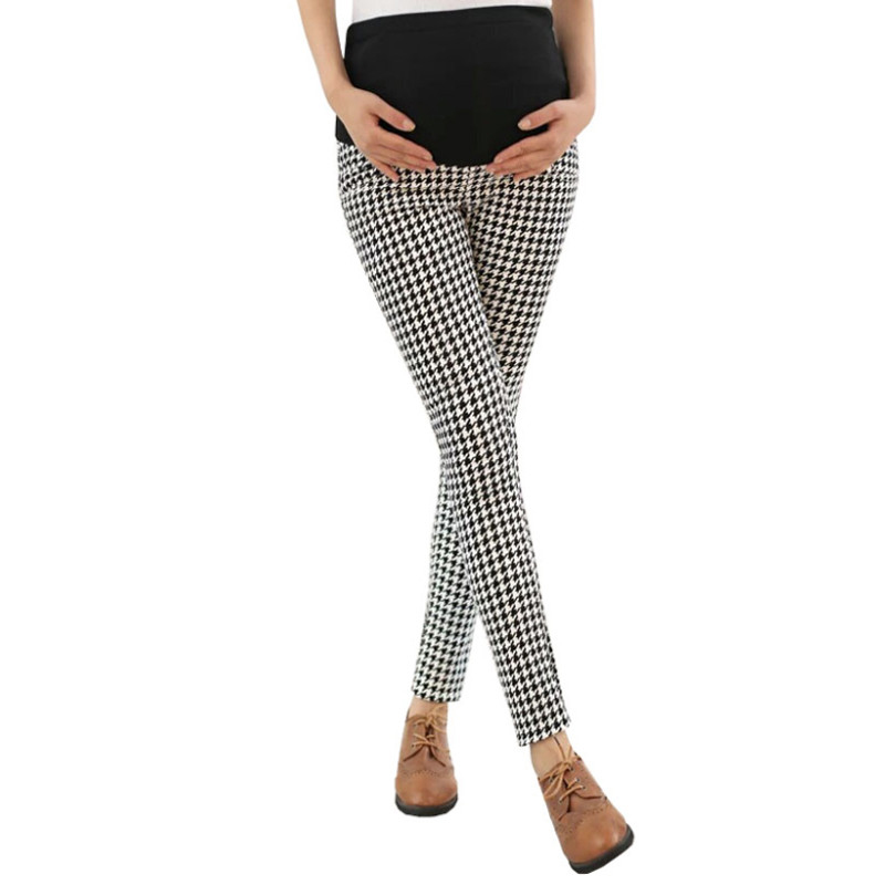Maternity Pants Pregnancy Fashion Maternity Office Wear Clothing Pregnant Women Trousers Plaid Maternity Pants For Work Bottoms