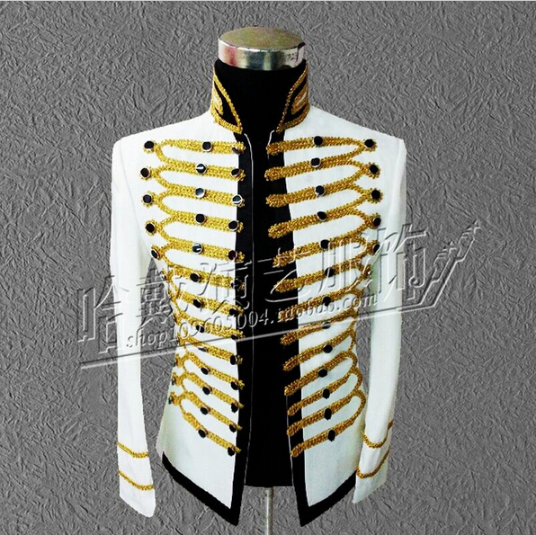 Michael Jackson concert dress MJ formal dress men singers dancer stage jacket costumes clothing !