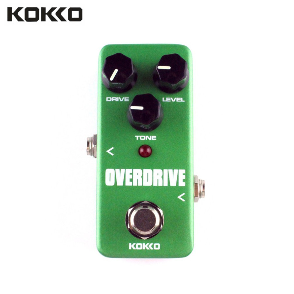 KOKKO FOD3 Mini Overdrive Electric Guitar Effect Pedal Portable True Bypass Aluminium Body Tube Overload Guitar Stompbox aroma adr 3 dumbler amp simulator guitar effect pedal mini single pedals with true bypass aluminium alloy guitar accessories